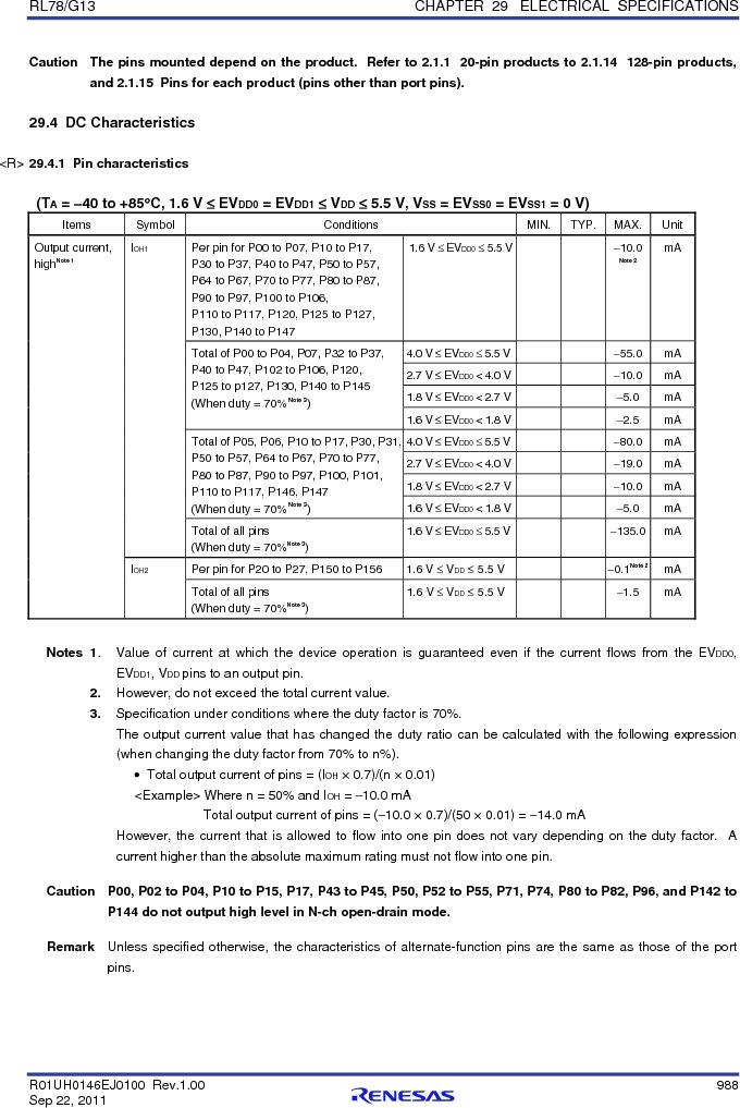 R5F100FCAFP#V0 ,Renesas Electronics America厂商,MCU 16BIT 32KB FLASH 44LQFP, R5F100FCAFP#V0 datasheet预览  第1007页