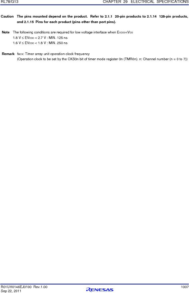 R5F100FGAFP#V0 ,Renesas Electronics America厂商,MCU 16BIT 128KB FLASH 44LQFP, R5F100FGAFP#V0 datasheet预览  第1026页