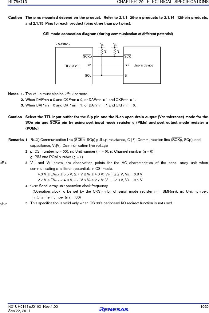 R5F100FCAFP#V0 ,Renesas Electronics America厂商,MCU 16BIT 32KB FLASH 44LQFP, R5F100FCAFP#V0 datasheet预览  第1039页