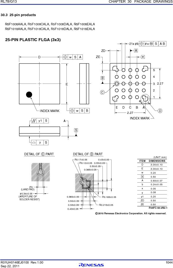R5F100FGAFP#V0 ,Renesas Electronics America厂商,MCU 16BIT 128KB FLASH 44LQFP, R5F100FGAFP#V0 datasheet预览  第1063页