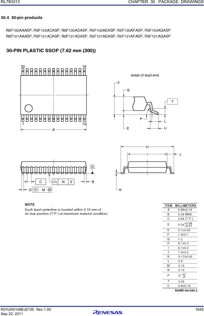 R5F100FCAFP#V0 ,Renesas Electronics America厂商,MCU 16BIT 32KB FLASH 44LQFP, R5F100FCAFP#V0 datasheet预览  第1064页