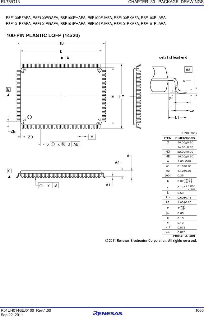 R5F100FCAFP#V0 ,Renesas Electronics America厂商,MCU 16BIT 32KB FLASH 44LQFP, R5F100FCAFP#V0 datasheet预览  第1079页