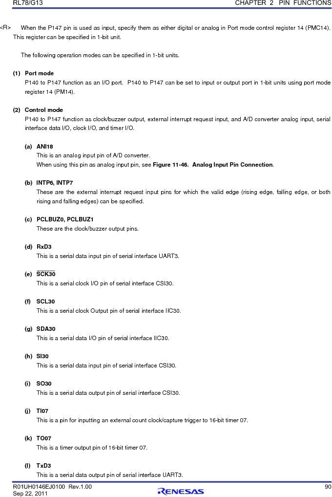 R5F100FCAFP#V0 ,Renesas Electronics America厂商,MCU 16BIT 32KB FLASH 44LQFP, R5F100FCAFP#V0 datasheet预览  第109页