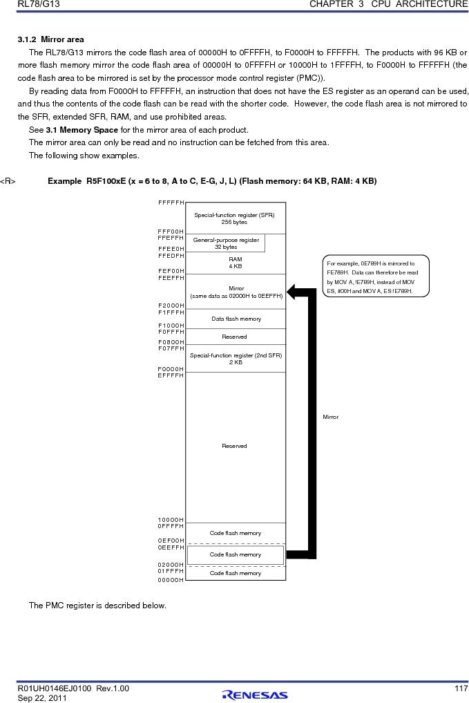 R5F100FCAFP#V0 ,Renesas Electronics America厂商,MCU 16BIT 32KB FLASH 44LQFP, R5F100FCAFP#V0 datasheet预览  第136页