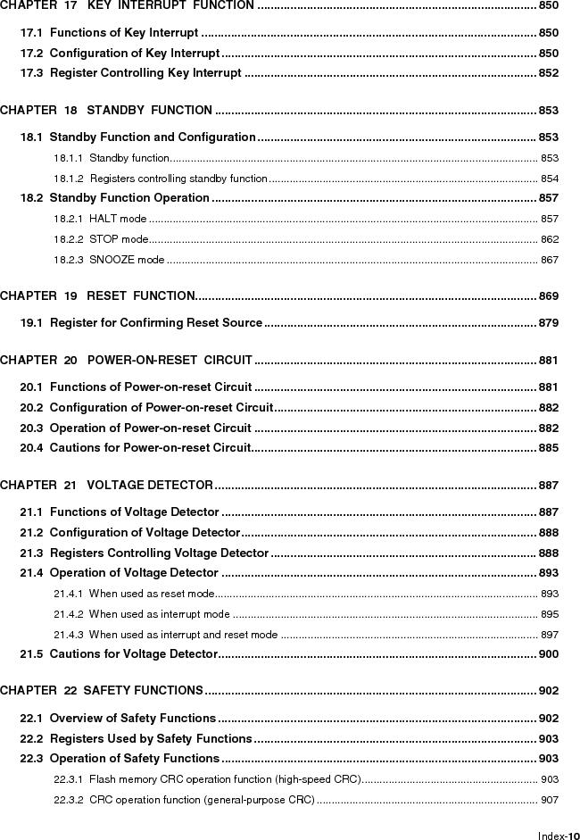 R5F100FCAFP#V0 ,Renesas Electronics America厂商,MCU 16BIT 32KB FLASH 44LQFP, R5F100FCAFP#V0 datasheet预览  第16页