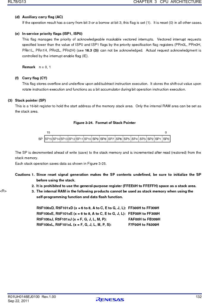 R5F100FCAFP#V0 ,Renesas Electronics America厂商,MCU 16BIT 32KB FLASH 44LQFP, R5F100FCAFP#V0 datasheet预览  第151页