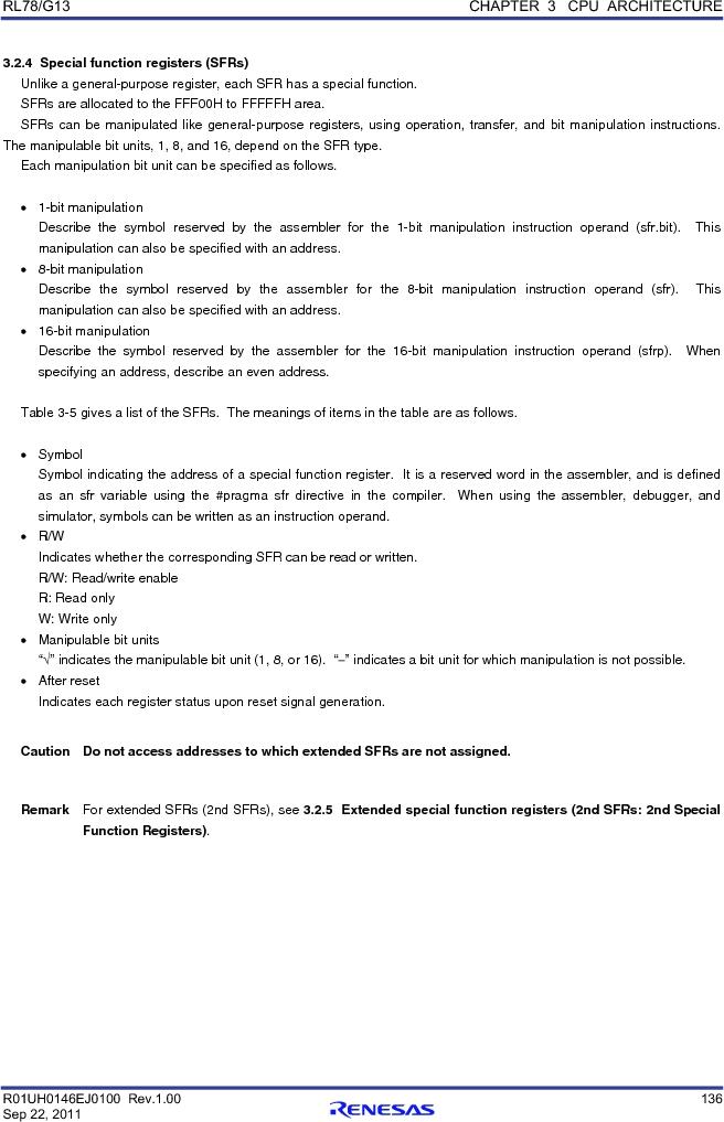 R5F100FCAFP#V0 ,Renesas Electronics America厂商,MCU 16BIT 32KB FLASH 44LQFP, R5F100FCAFP#V0 datasheet预览  第155页