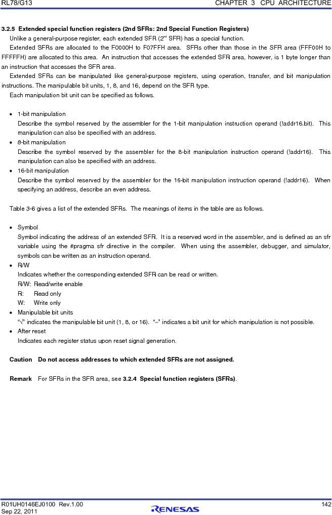 R5F100FCAFP#V0 ,Renesas Electronics America厂商,MCU 16BIT 32KB FLASH 44LQFP, R5F100FCAFP#V0 datasheet预览  第161页