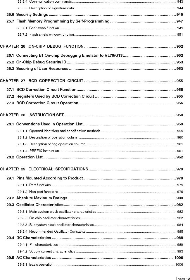 R5F100FCAFP#V0 ,Renesas Electronics America厂商,MCU 16BIT 32KB FLASH 44LQFP, R5F100FCAFP#V0 datasheet预览  第18页