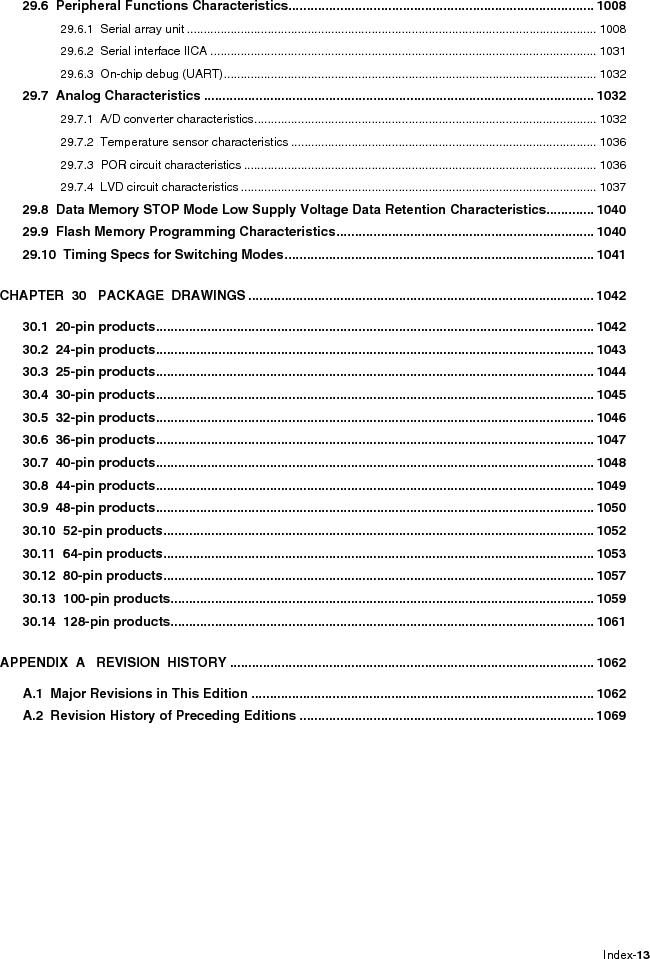 R5F100FCAFP#V0 ,Renesas Electronics America厂商,MCU 16BIT 32KB FLASH 44LQFP, R5F100FCAFP#V0 datasheet预览  第19页