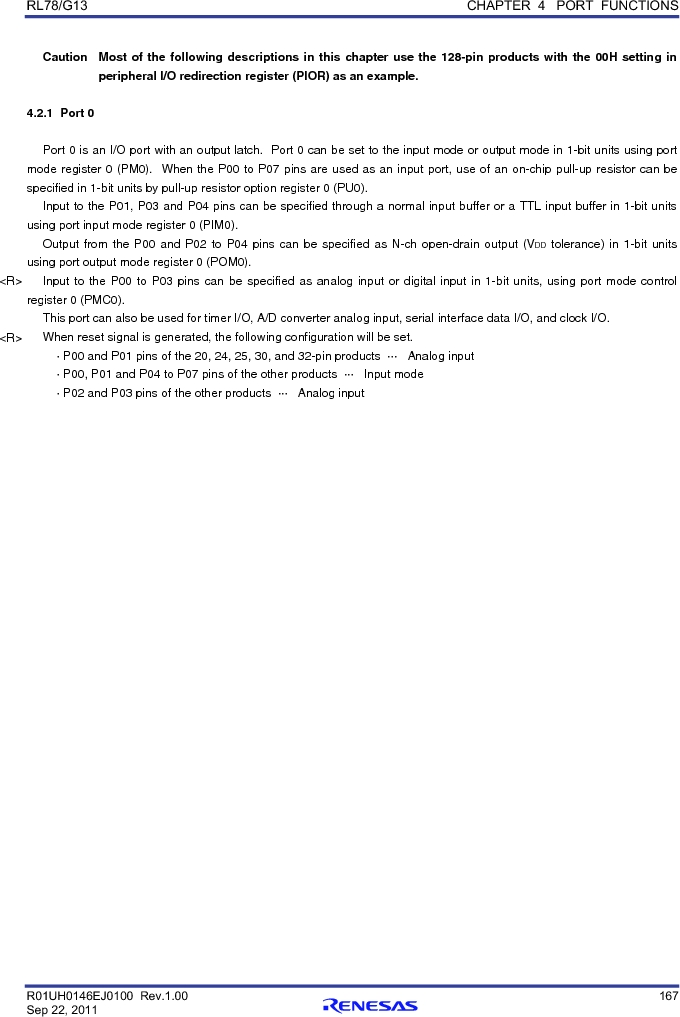 R5F100FCAFP#V0 ,Renesas Electronics America厂商,MCU 16BIT 32KB FLASH 44LQFP, R5F100FCAFP#V0 datasheet预览  第186页