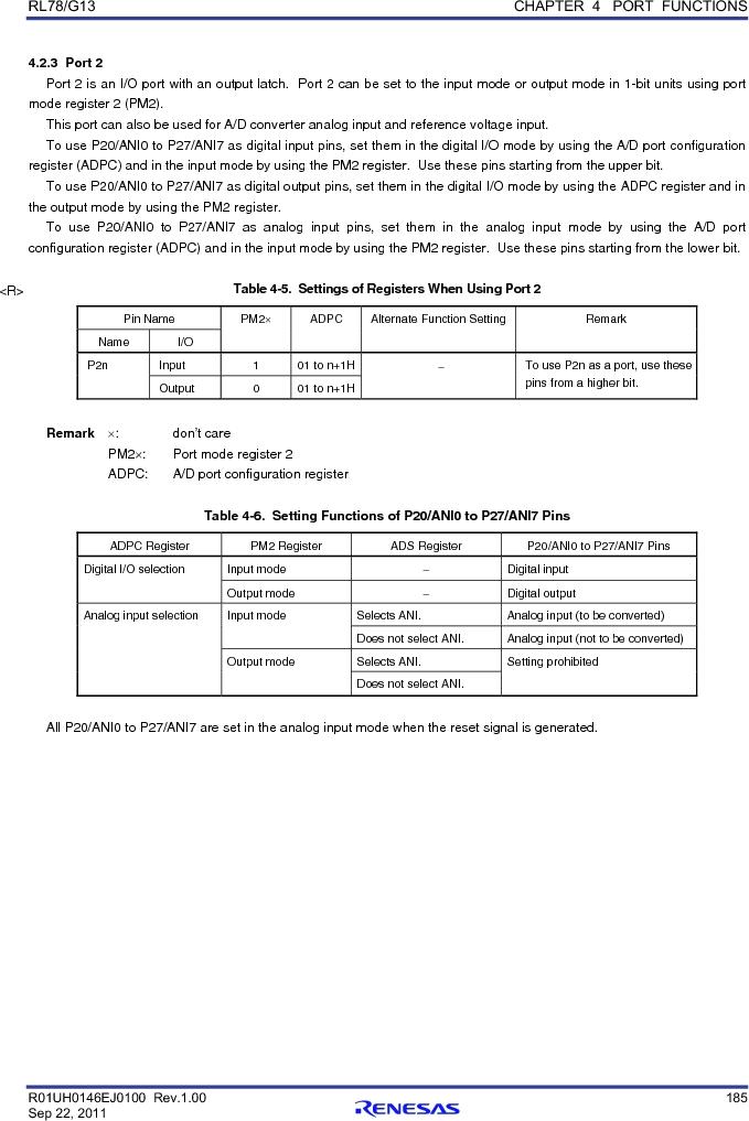 R5F100FCAFP#V0 ,Renesas Electronics America厂商,MCU 16BIT 32KB FLASH 44LQFP, R5F100FCAFP#V0 datasheet预览  第204页