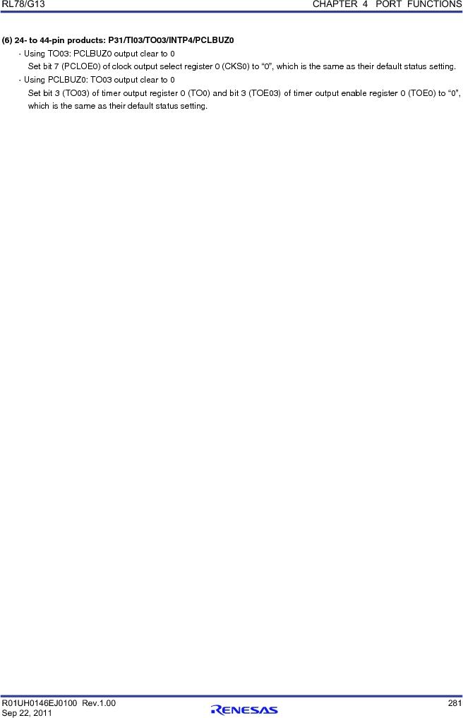 R5F100FCAFP#V0 ,Renesas Electronics America厂商,MCU 16BIT 32KB FLASH 44LQFP, R5F100FCAFP#V0 datasheet预览  第300页