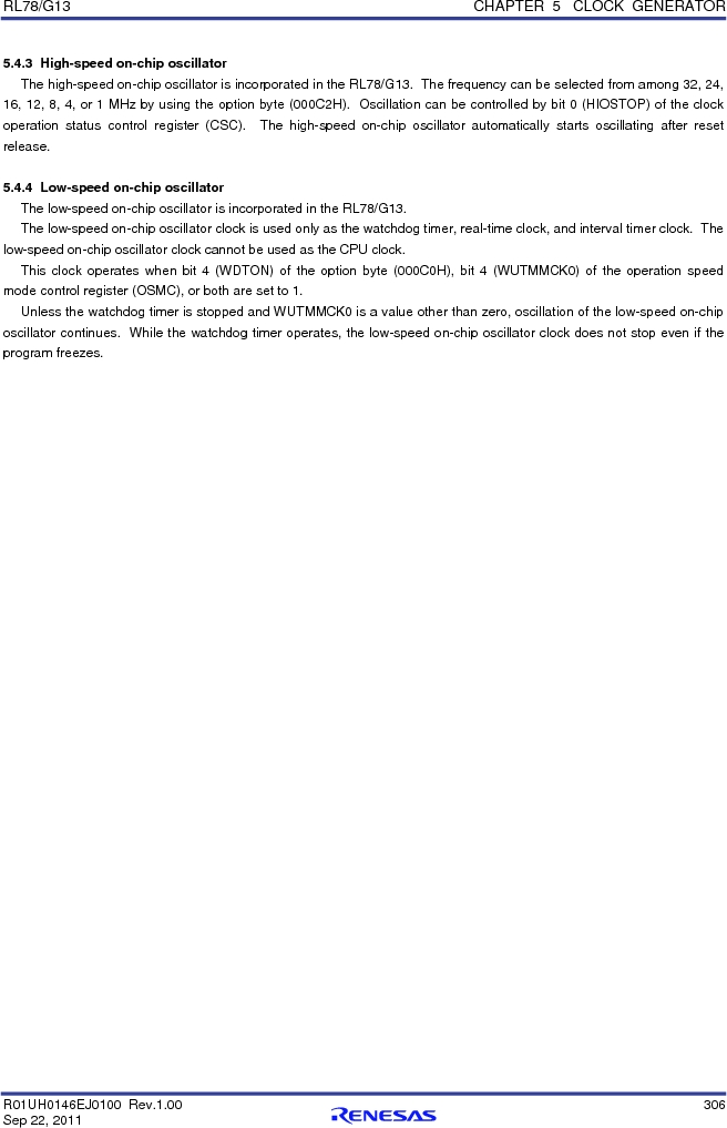 R5F100FCAFP#V0 ,Renesas Electronics America厂商,MCU 16BIT 32KB FLASH 44LQFP, R5F100FCAFP#V0 datasheet预览  第325页