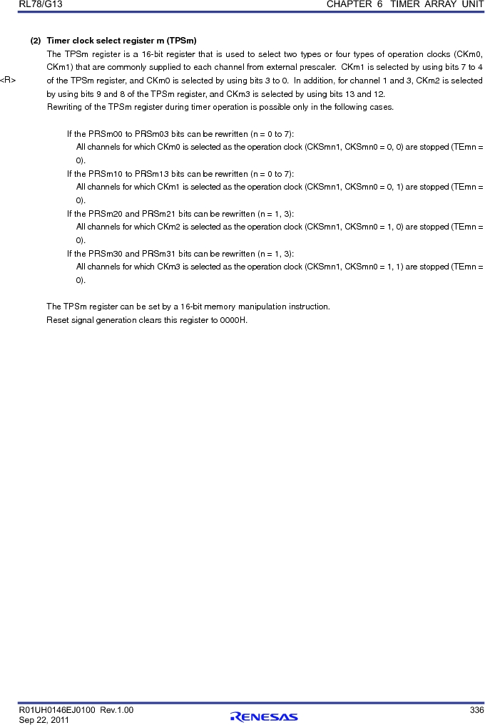 R5F100FCAFP#V0 ,Renesas Electronics America厂商,MCU 16BIT 32KB FLASH 44LQFP, R5F100FCAFP#V0 datasheet预览  第355页