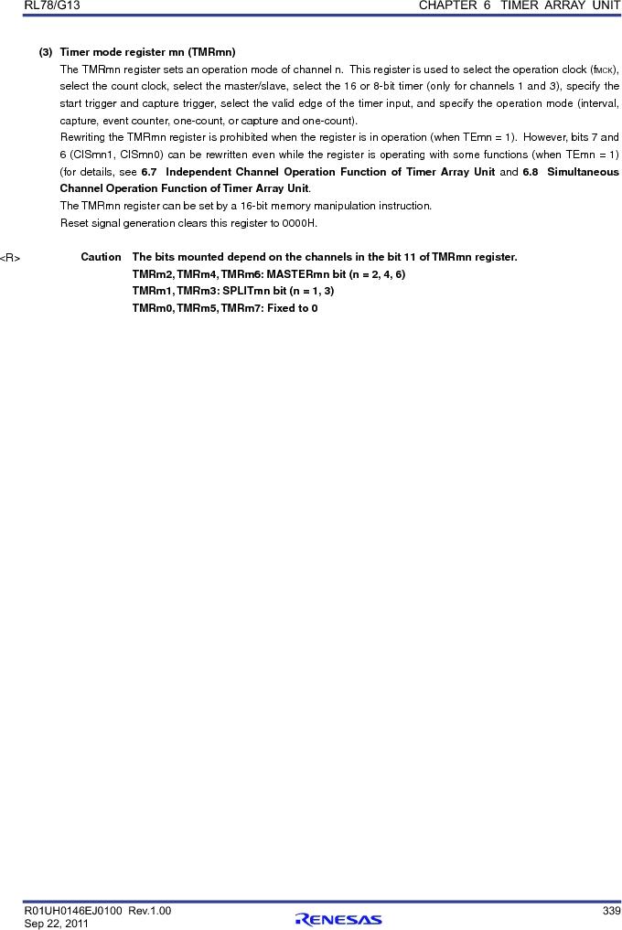 R5F100FGAFP#V0 ,Renesas Electronics America厂商,MCU 16BIT 128KB FLASH 44LQFP, R5F100FGAFP#V0 datasheet预览  第358页