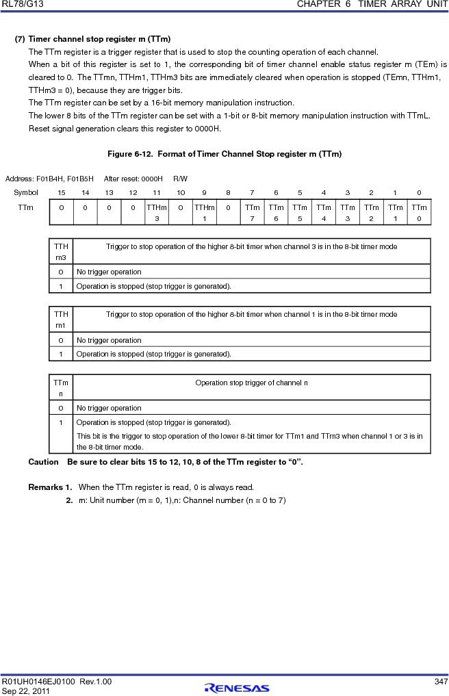 R5F100FCAFP#V0 ,Renesas Electronics America厂商,MCU 16BIT 32KB FLASH 44LQFP, R5F100FCAFP#V0 datasheet预览  第366页