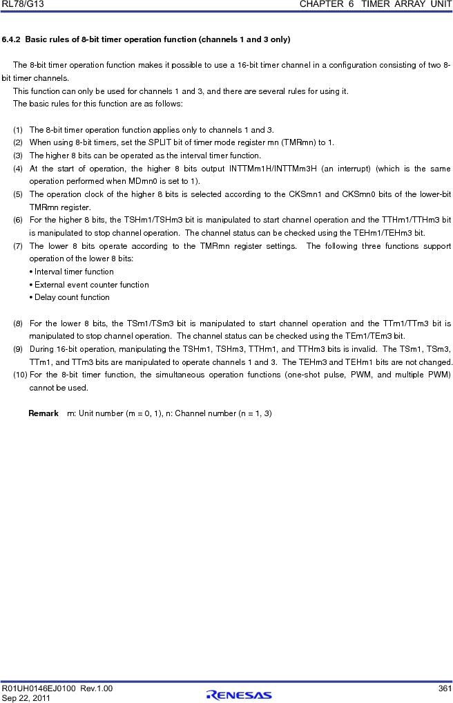 R5F100FGAFP#V0 ,Renesas Electronics America厂商,MCU 16BIT 128KB FLASH 44LQFP, R5F100FGAFP#V0 datasheet预览  第380页