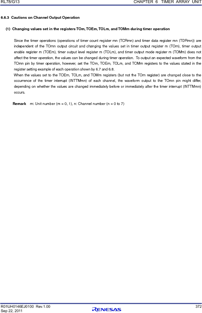 R5F100FCAFP#V0 ,Renesas Electronics America厂商,MCU 16BIT 32KB FLASH 44LQFP, R5F100FCAFP#V0 datasheet预览  第391页