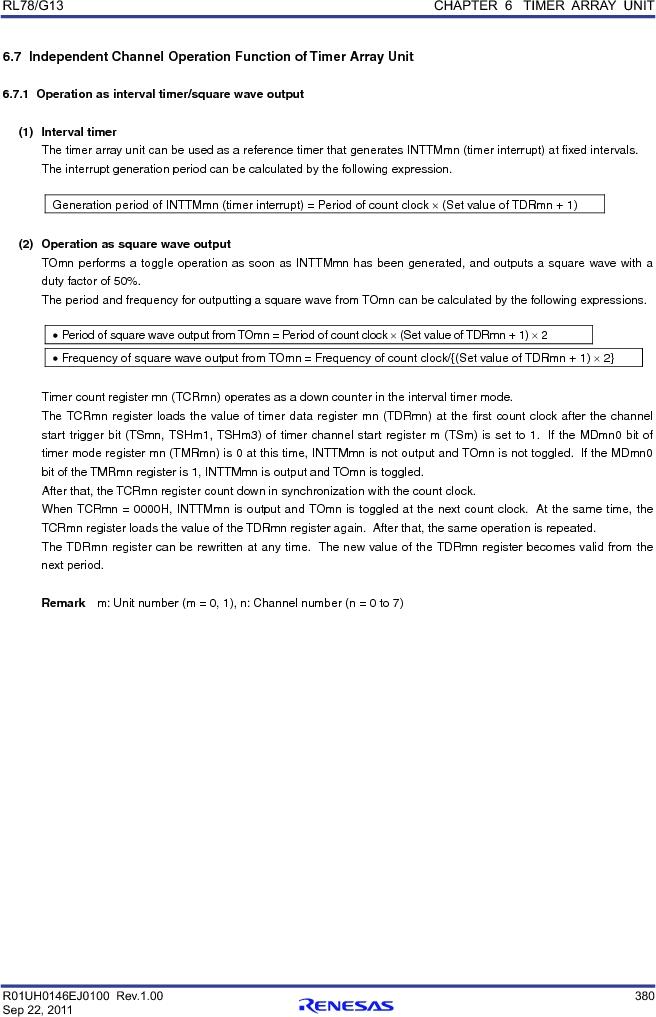 R5F100FCAFP#V0 ,Renesas Electronics America厂商,MCU 16BIT 32KB FLASH 44LQFP, R5F100FCAFP#V0 datasheet预览  第399页