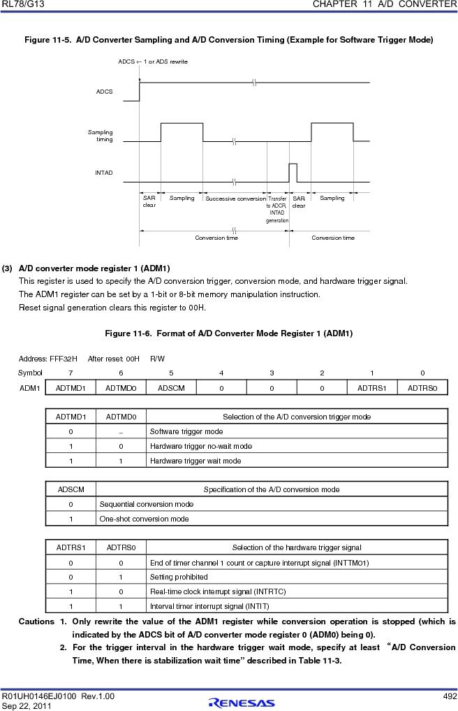 R5F100FCAFP#V0 ,Renesas Electronics America厂商,MCU 16BIT 32KB FLASH 44LQFP, R5F100FCAFP#V0 datasheet预览  第511页