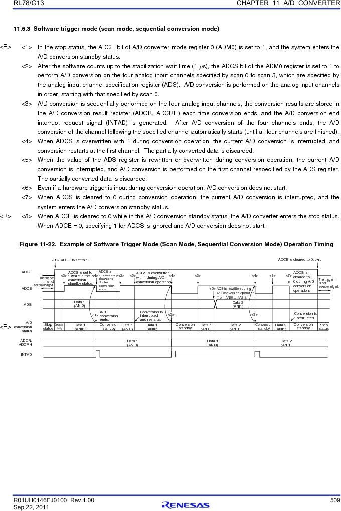 R5F100FCAFP#V0 ,Renesas Electronics America厂商,MCU 16BIT 32KB FLASH 44LQFP, R5F100FCAFP#V0 datasheet预览  第528页