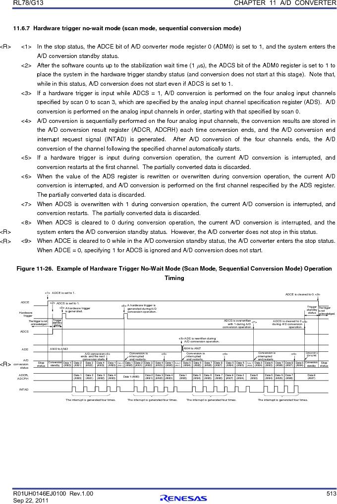 R5F100FCAFP#V0 ,Renesas Electronics America厂商,MCU 16BIT 32KB FLASH 44LQFP, R5F100FCAFP#V0 datasheet预览  第532页