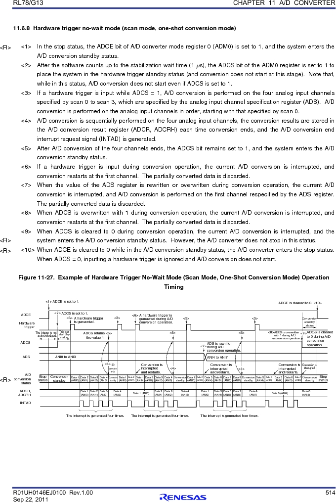 R5F100FCAFP#V0 ,Renesas Electronics America厂商,MCU 16BIT 32KB FLASH 44LQFP, R5F100FCAFP#V0 datasheet预览  第533页