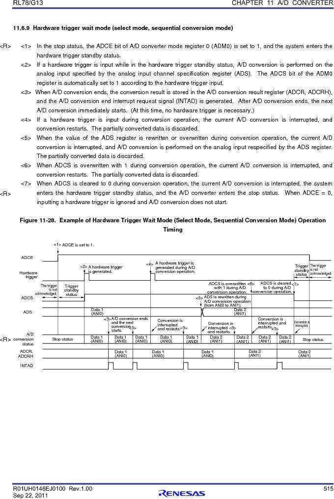 R5F100FCAFP#V0 ,Renesas Electronics America厂商,MCU 16BIT 32KB FLASH 44LQFP, R5F100FCAFP#V0 datasheet预览  第534页