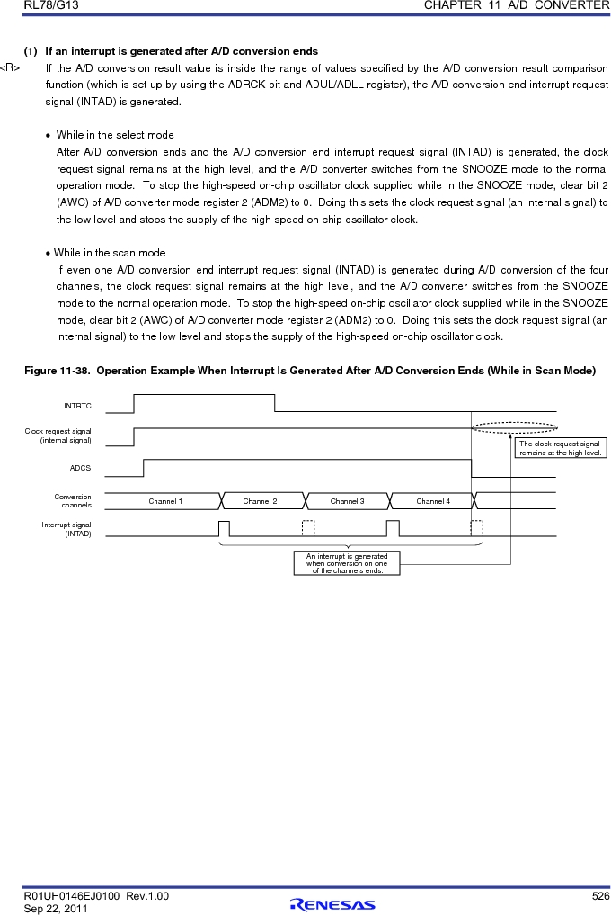 R5F100FGAFP#V0 ,Renesas Electronics America厂商,MCU 16BIT 128KB FLASH 44LQFP, R5F100FGAFP#V0 datasheet预览  第545页