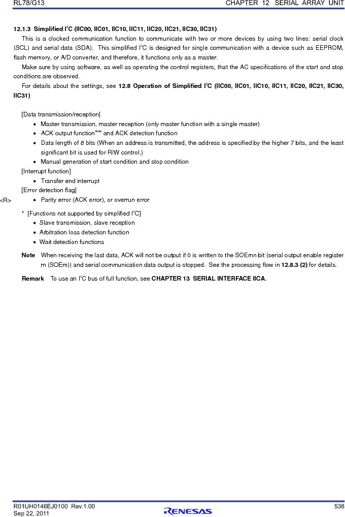 R5F100FGAFP#V0 ,Renesas Electronics America厂商,MCU 16BIT 128KB FLASH 44LQFP, R5F100FGAFP#V0 datasheet预览  第557页