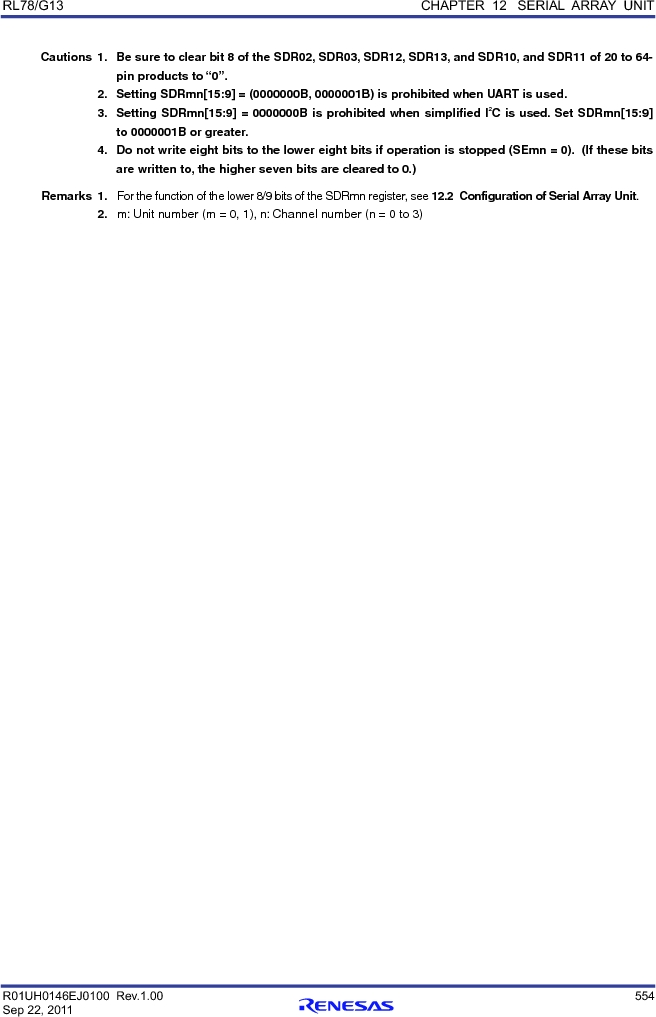 R5F100FCAFP#V0 ,Renesas Electronics America厂商,MCU 16BIT 32KB FLASH 44LQFP, R5F100FCAFP#V0 datasheet预览  第573页