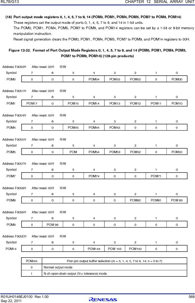 R5F100FCAFP#V0 ,Renesas Electronics America厂商,MCU 16BIT 32KB FLASH 44LQFP, R5F100FCAFP#V0 datasheet预览  第587页
