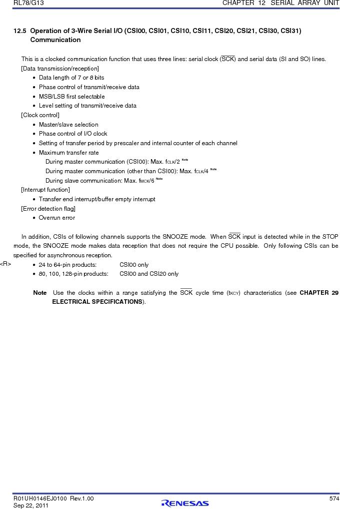R5F100FCAFP#V0 ,Renesas Electronics America厂商,MCU 16BIT 32KB FLASH 44LQFP, R5F100FCAFP#V0 datasheet预览  第593页