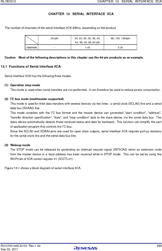 R5F100FCAFP#V0 ,Renesas Electronics America厂商,MCU 16BIT 32KB FLASH 44LQFP, R5F100FCAFP#V0 datasheet预览  第718页