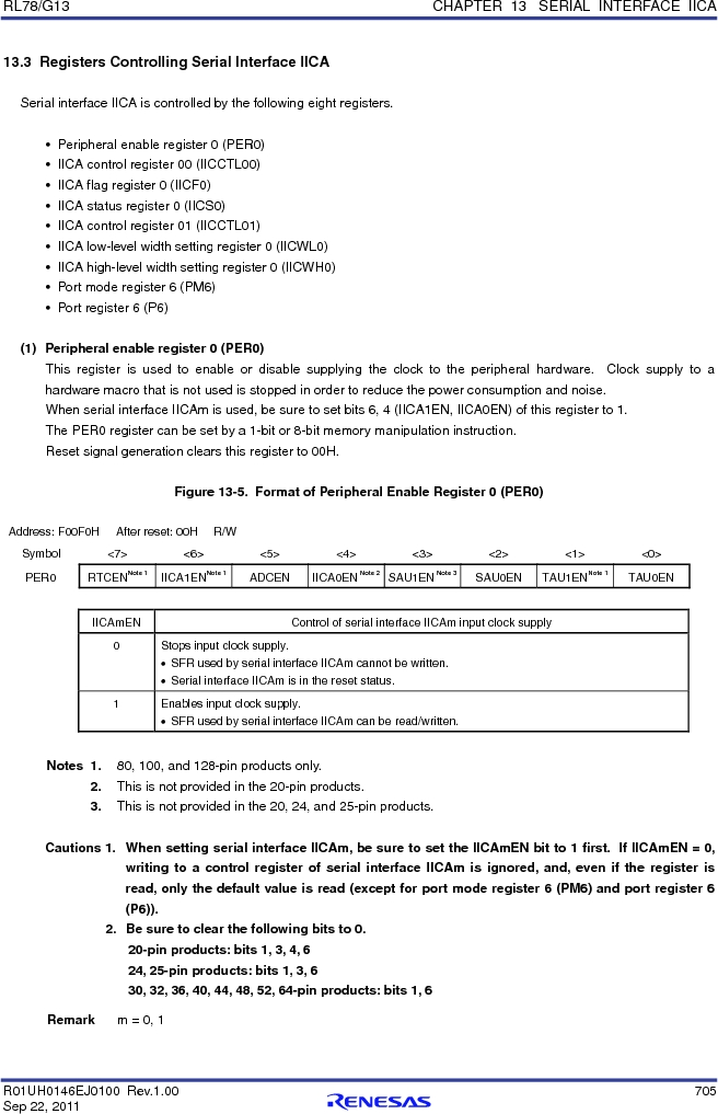 R5F100FCAFP#V0 ,Renesas Electronics America厂商,MCU 16BIT 32KB FLASH 44LQFP, R5F100FCAFP#V0 datasheet预览  第724页