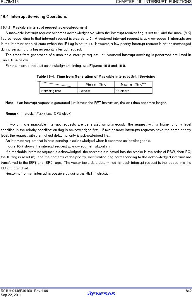 R5F100FCAFP#V0 ,Renesas Electronics America厂商,MCU 16BIT 32KB FLASH 44LQFP, R5F100FCAFP#V0 datasheet预览  第861页