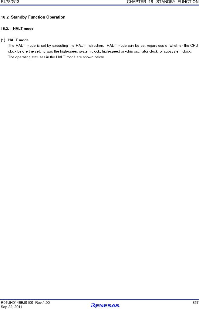 R5F100FCAFP#V0 ,Renesas Electronics America厂商,MCU 16BIT 32KB FLASH 44LQFP, R5F100FCAFP#V0 datasheet预览  第876页