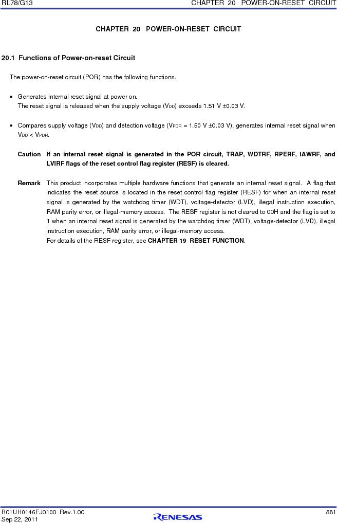 R5F100FCAFP#V0 ,Renesas Electronics America厂商,MCU 16BIT 32KB FLASH 44LQFP, R5F100FCAFP#V0 datasheet预览  第900页