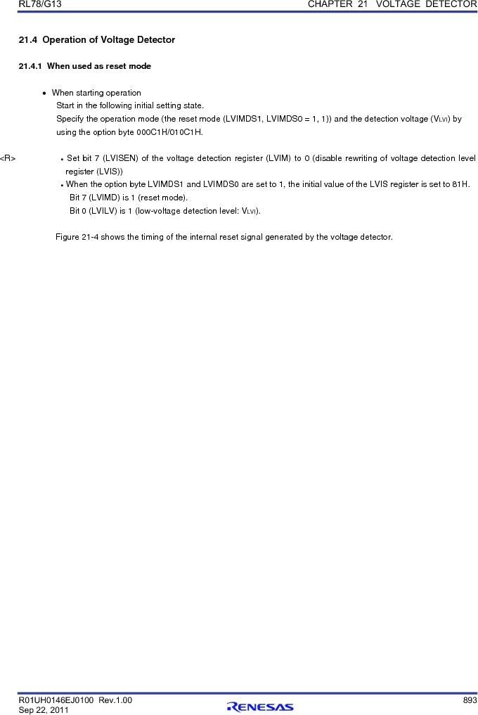 R5F100FGAFP#V0 ,Renesas Electronics America厂商,MCU 16BIT 128KB FLASH 44LQFP, R5F100FGAFP#V0 datasheet预览  第912页