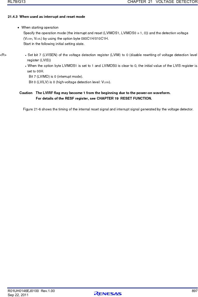 R5F100FCAFP#V0 ,Renesas Electronics America厂商,MCU 16BIT 32KB FLASH 44LQFP, R5F100FCAFP#V0 datasheet预览  第916页