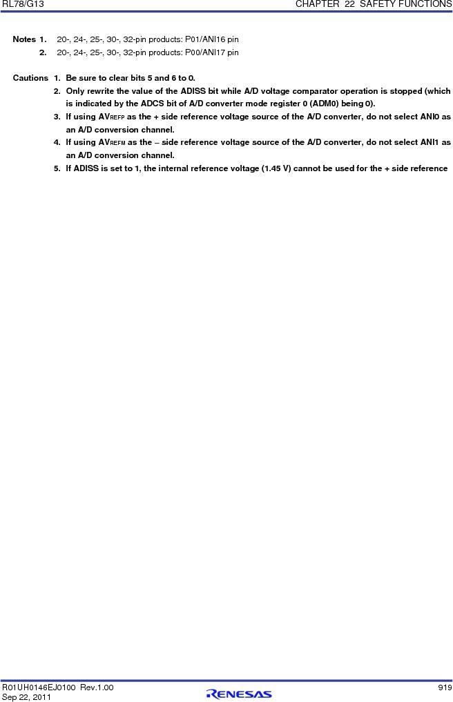 R5F100FCAFP#V0 ,Renesas Electronics America厂商,MCU 16BIT 32KB FLASH 44LQFP, R5F100FCAFP#V0 datasheet预览  第938页