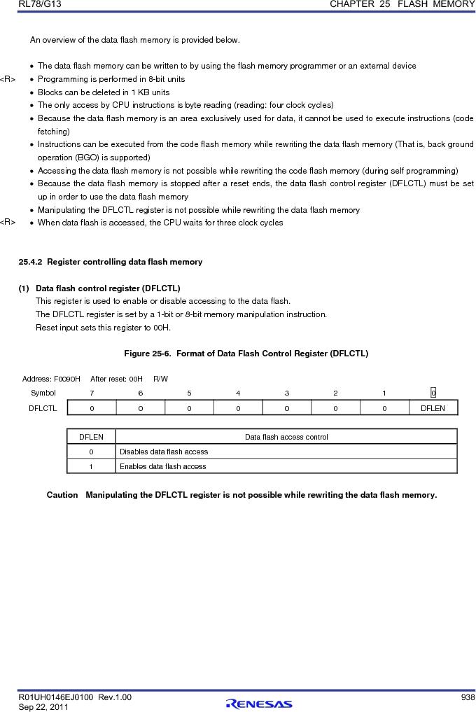 R5F100FCAFP#V0 ,Renesas Electronics America厂商,MCU 16BIT 32KB FLASH 44LQFP, R5F100FCAFP#V0 datasheet预览  第957页