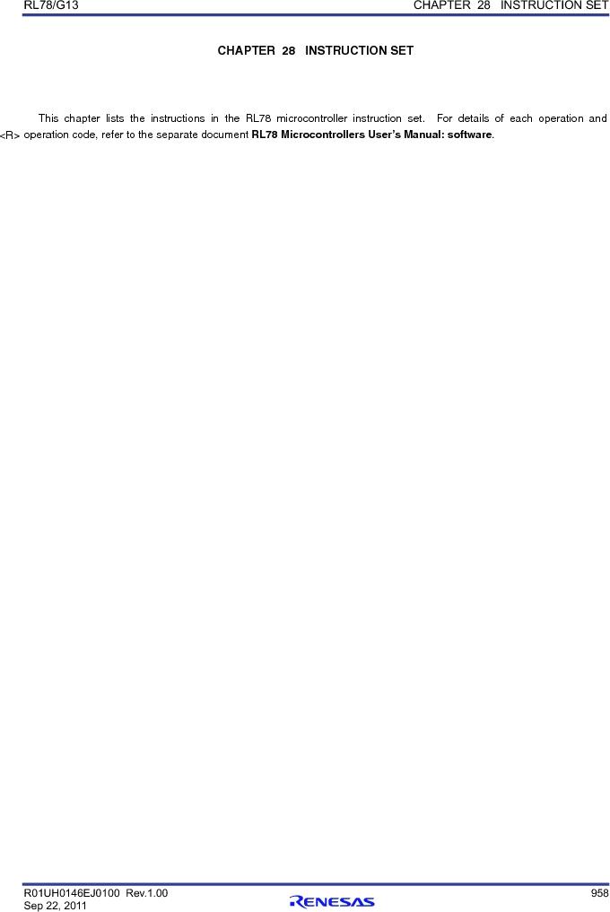 R5F100FCAFP#V0 ,Renesas Electronics America厂商,MCU 16BIT 32KB FLASH 44LQFP, R5F100FCAFP#V0 datasheet预览  第977页