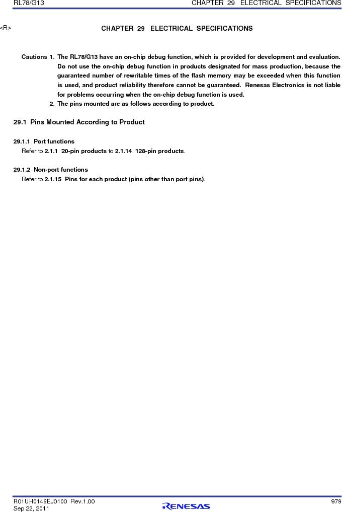 R5F100FCAFP#V0 ,Renesas Electronics America厂商,MCU 16BIT 32KB FLASH 44LQFP, R5F100FCAFP#V0 datasheet预览  第998页