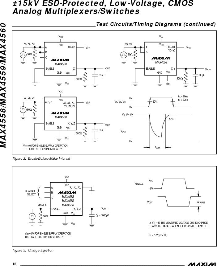 MAX4558EEE ,Maxim Integrated厂商,IC MULTIPLEXER 8X1 16QSOP, MAX4558EEE datasheet预览  第12页