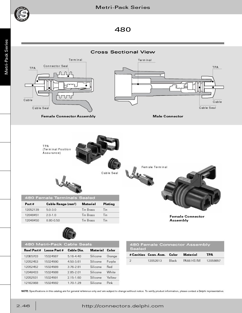 12014254 ,Delphi Connection Systems厂商,Automotive Connectors HAND CRIMPER, 12014254 datasheet预览  第102页