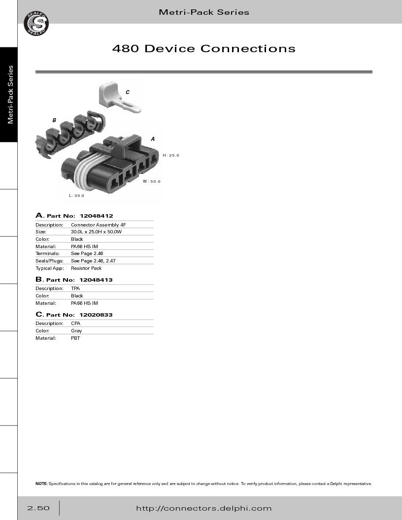 12014254 ,Delphi Connection Systems厂商,Automotive Connectors HAND CRIMPER, 12014254 datasheet预览  第106页