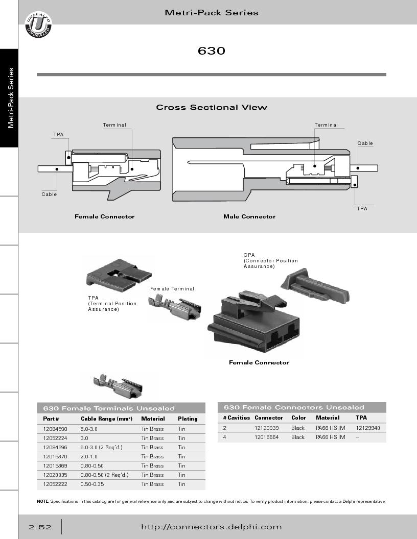 12014254 ,Delphi Connection Systems厂商,Automotive Connectors HAND CRIMPER, 12014254 datasheet预览  第108页