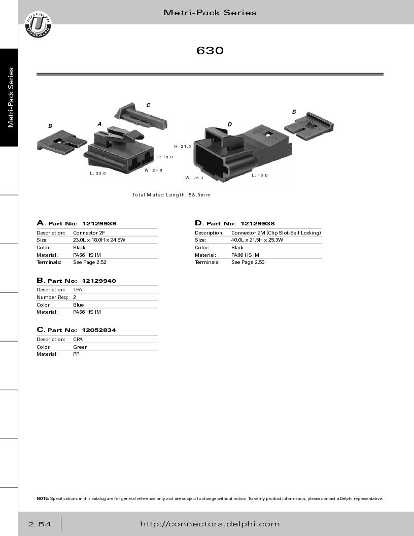 12014254 ,Delphi Connection Systems厂商,Automotive Connectors HAND CRIMPER, 12014254 datasheet预览  第110页